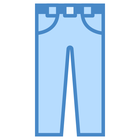 Trousers icon in Blue UI