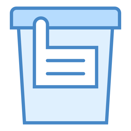 Urine Collection icon in Blue UI