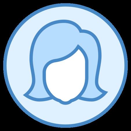 Female Profile icon in Blue UI
