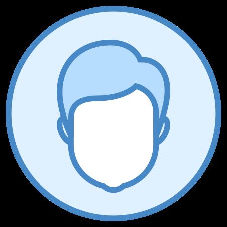 Male User icon in Blue UI