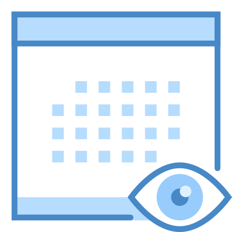 View Schedule icon in Blue UI