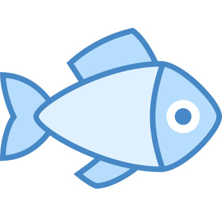 Whole Fish icon in Blue UI