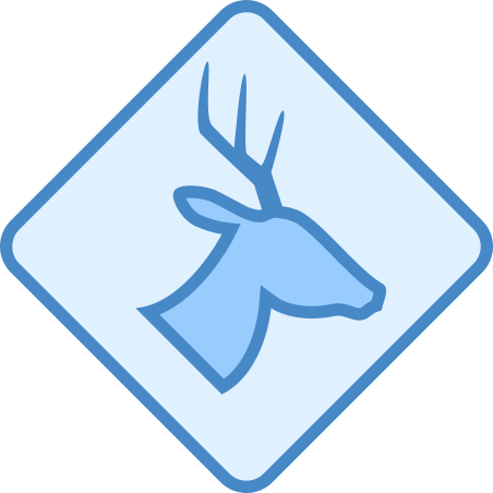 Wild Animals Sign icon in Blue UI