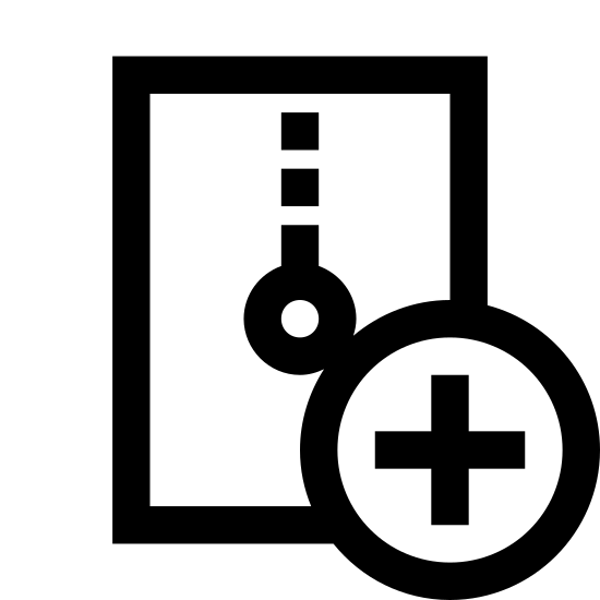 Create Archive icon. This icon stands for creative archive.  This logo has a rectangle with a circle with a cross in the middle. The circle is in the right bottom corner of the rectangle. In the middle of the rectangle it appears to be a light bulb hanging from it.