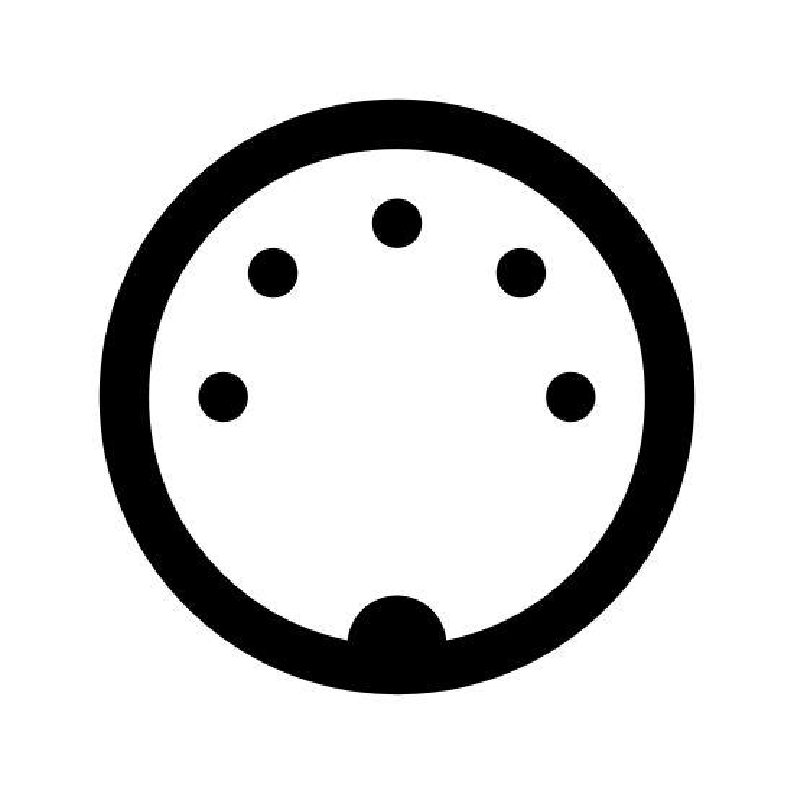 MIDI Connector Male icon