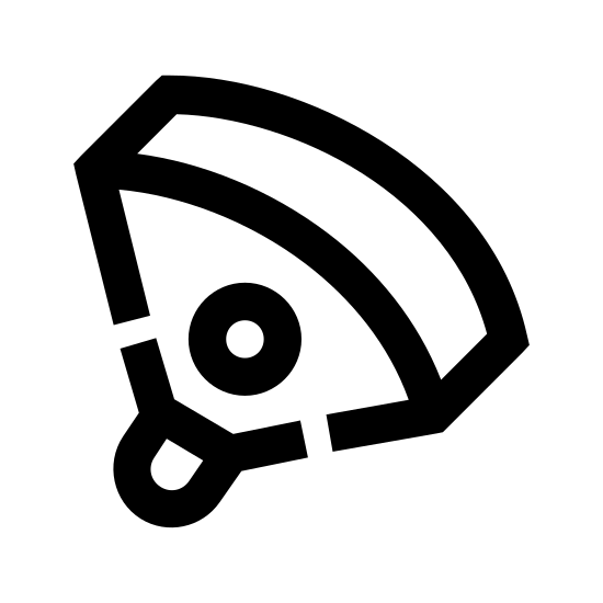 Paralotniarstwo icon. A paragliding symbol is represented with a big piece of fabric that has strings attached to it. The piece of fabric and string is then attached to the person and they are flying down with it.