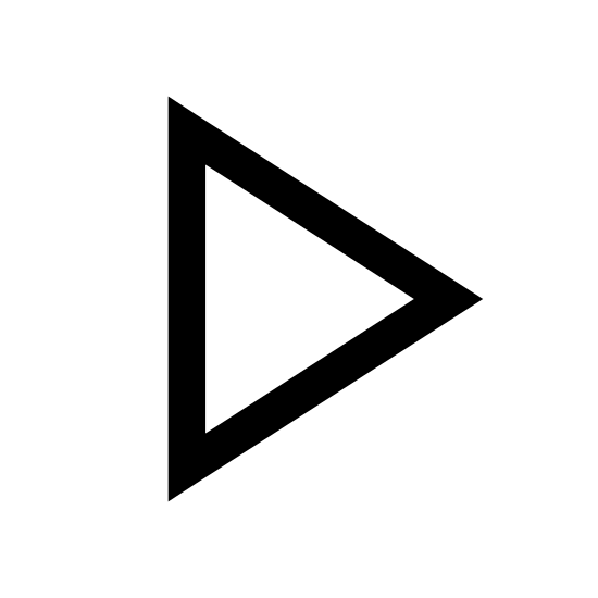 Odtwórz icon. This is a picture of the play button that you would see on a DVD player or VCR. It's a triangle that is pointed to the right and is completely by itself.