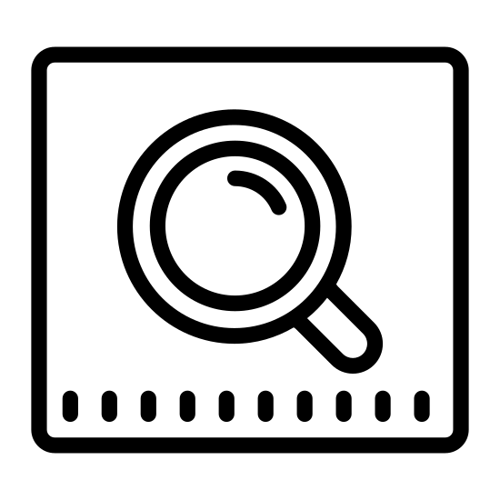 Google поиск icon. This is a logo of a search - it features a small magnifying glass leaning to the left. This magnifying glass is placed in the center of a square with rounded corners.