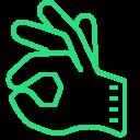 ok hand icon